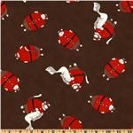 Moda Santa's Little Helpers Santa Suit Brown