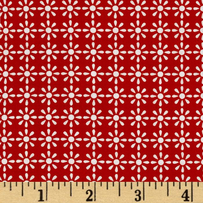 Fantasy Mini Daisies Red