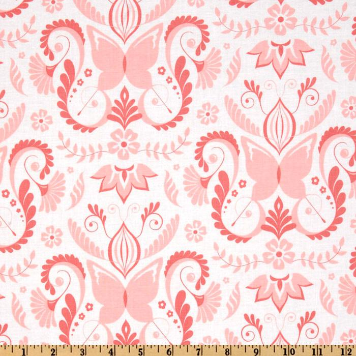 Michael Miller Bella Butterfly Butterfly Damask Pink
