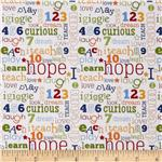 221899 Riley Blake Pieces of Hope Words White/Multi