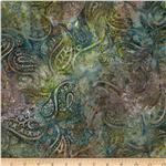 Batavian Batiks Medium Paisley Grey