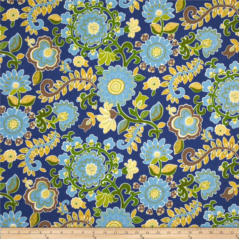 Waverly Sun N Shade Zsa Zsa Floral Copen Blue/Yellow
