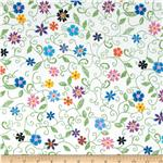 0270044 Stitches In Bloom Mini Floral Green