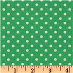 Crazy for Dots &amp; Stripes Dottie Green/White