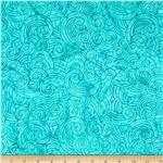 "209318 106"" Wide Batavian Batiks Quilt Backing Dotty Turquoise"