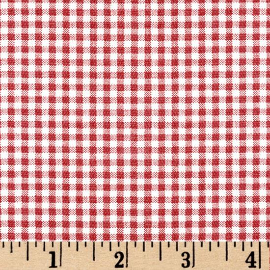 Small Check Cranberry Red/Cream