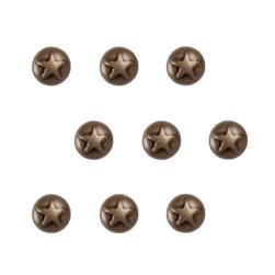 Brass Small Dome Star 36pc