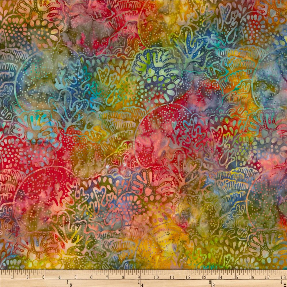 Artisan Batiks: Totally Tropical 2 Coral Reef Tropical Green