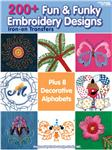 NR-524 Leisure Arts Fun &amp; Funky Embroidery Transfers Book