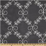 Embroidered Legacy Scrolls Drapery Sheers White