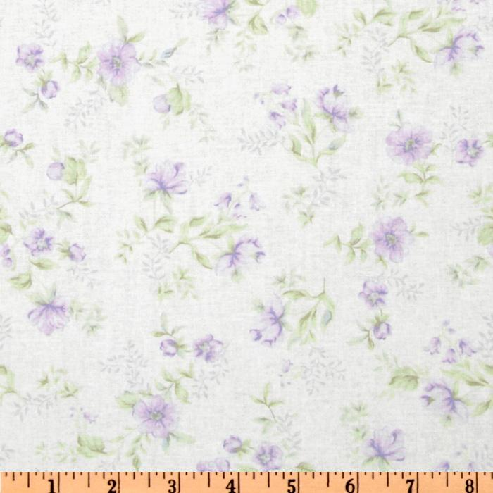 Treasures by Shabby Chic Floral Toss Green/Lilac