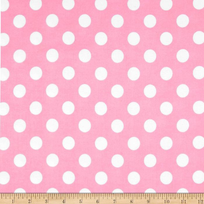 Riley Blake Flannel Basics Dots Medium Baby Pink
