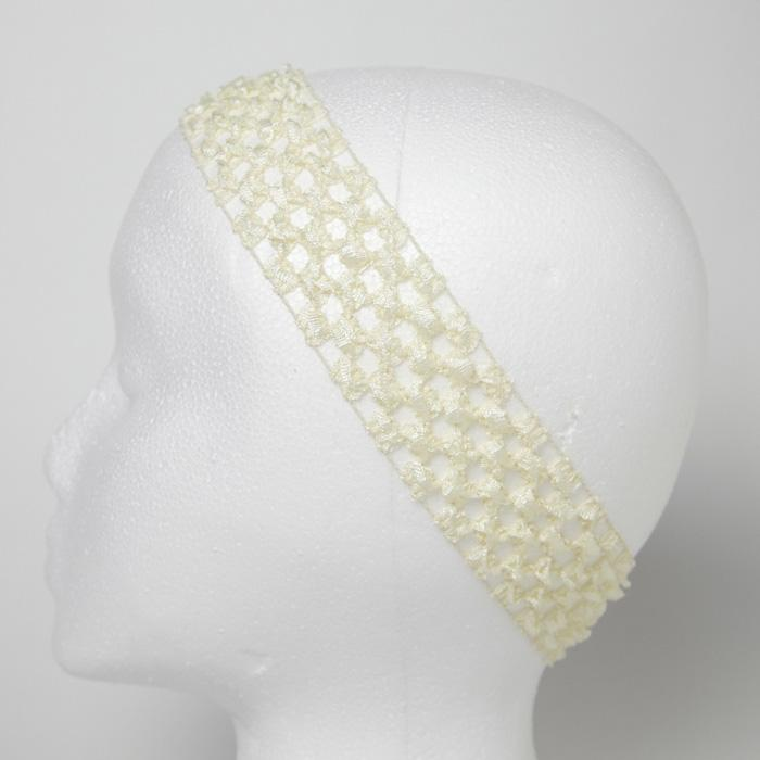 1 3/4'' Stretch Crochet Headband Ivory