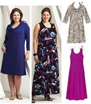 KP-3710 Kwik Sew Cowl & Scoop Neck Dresses Plus Size Pattern