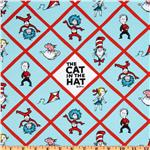 FI-016 The Cat In The Hat Minky Cuddle Hopscotch Bright