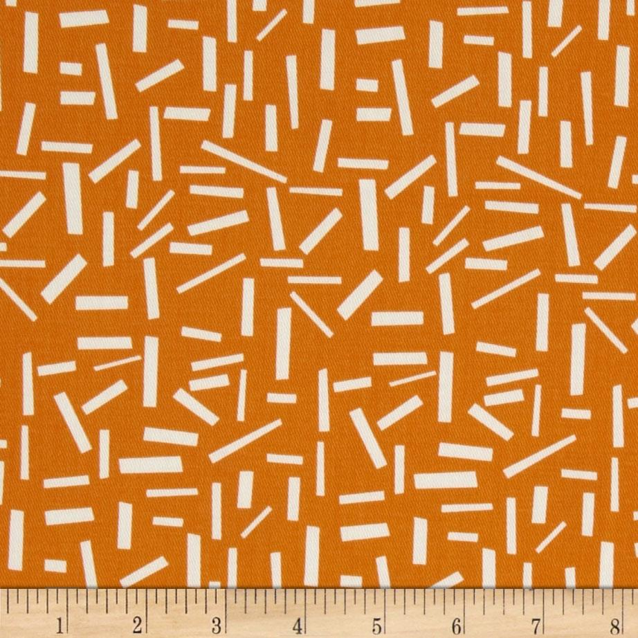 Premier Prints Twill Sprinkles Sherbet Orange