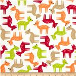 0290071 Woodland Pals Tossed Deer Bermuda