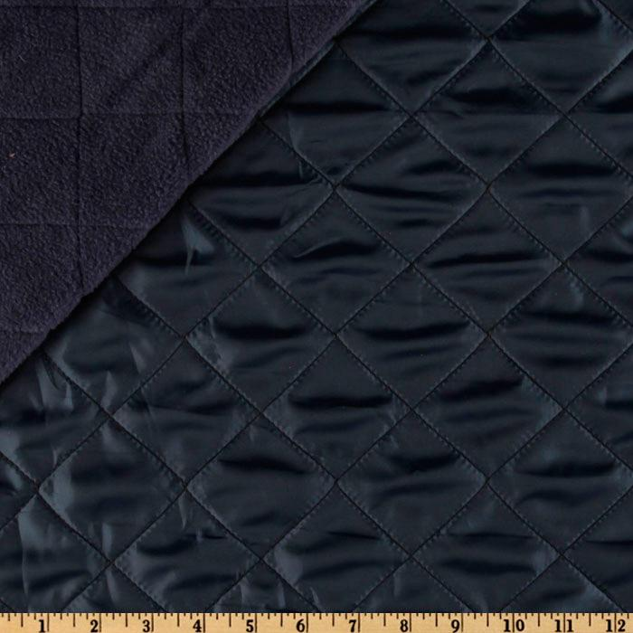 Fleece Backed Quilted Nylon Navy