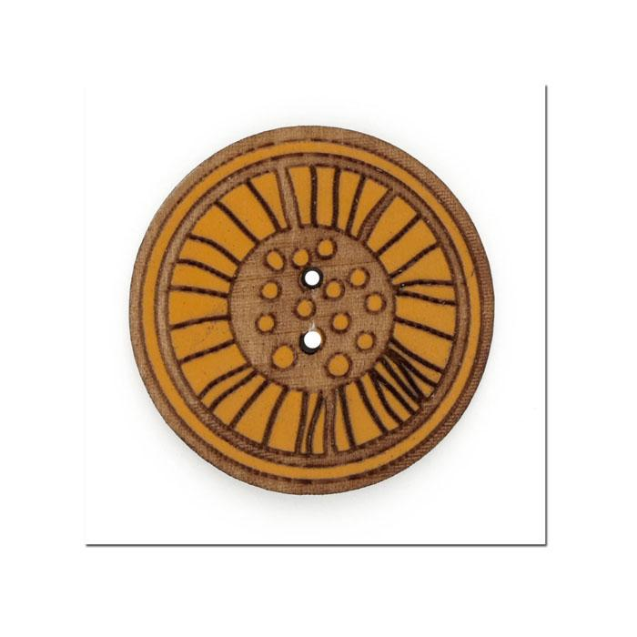Organic Elements Wood Button 1 1/4&#39;&#39; Yellow