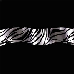 1 1/2'' Satin Ribbon Animal Print Zebra