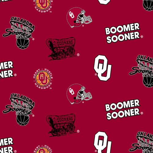Collegiate Fleece University of Oklahoma Tossed