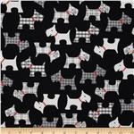 Whiskers & Tails Scotty Dogs Black