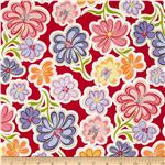 222512 Daisy Dance Large Floral Red