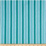 Moda Seascapes Nautical Stripe Caribbean Blue