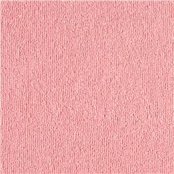 Cotton Blend Terry Cloth Knit Light Pink
