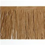 HDDR-1305 6&#39;&#39; Faux Suede Fringe Trim Beige