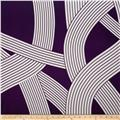 Charmeuse Satin Geometrics Purple/White