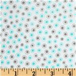 Moda Flirt Small Dot Grey/Blue Bird