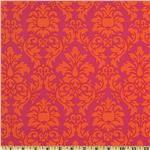 Michael Miller Dandy Damask Sorbet Pink