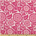 Joel Dewberry Heirloom Blockprint Blossom Fuchsia