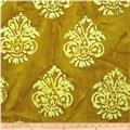 Indian Batik Arcadia Damask Gold