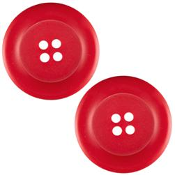 "Riley Blake Sew Together 2"" Matte Round Button Red"