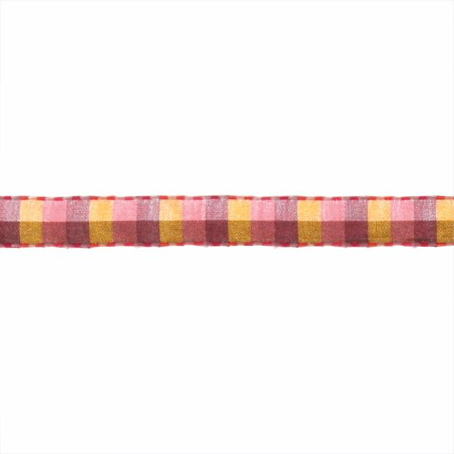 1/2&#39;&#39; Check Stitch Ribbon Pink/Purple/Green