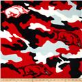University of Arkansas Fleece Camo Red