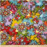 0272254 Global Bazaar Large Floral Red