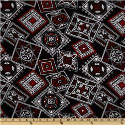 Bandana Large Squares Black