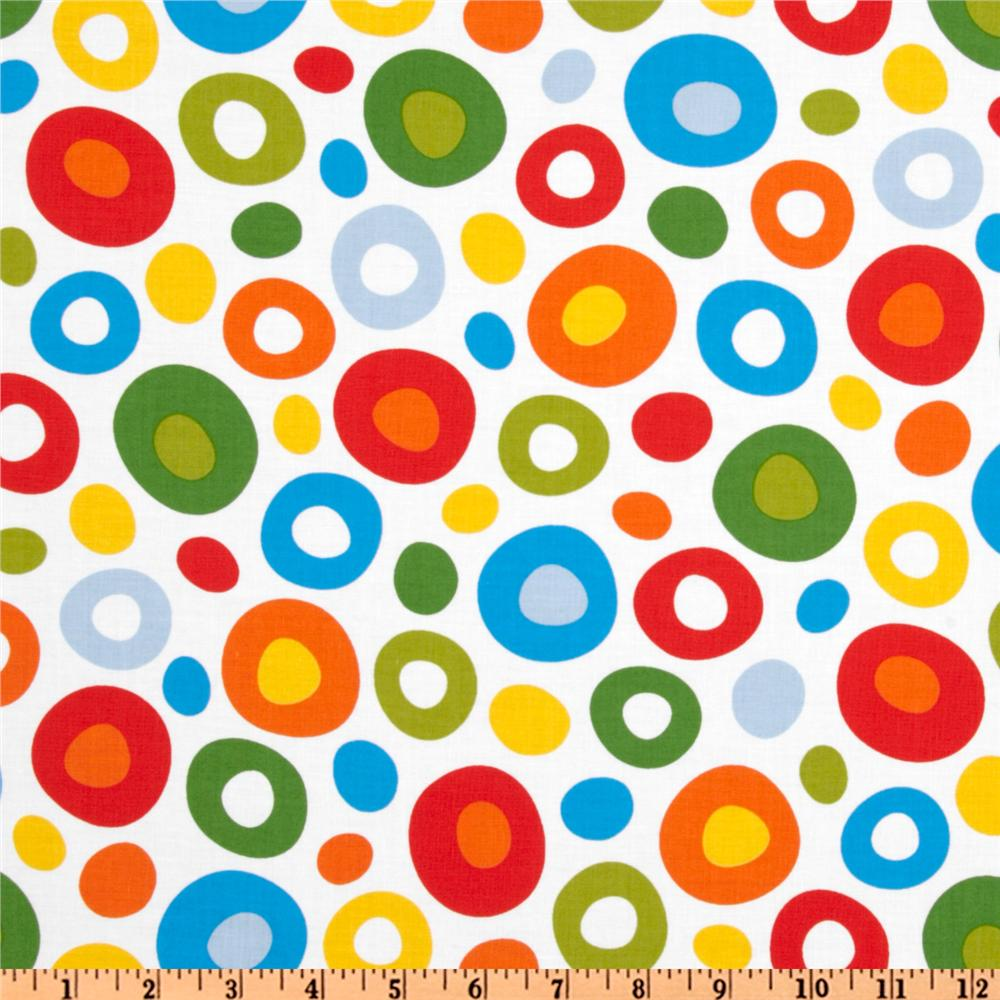 Celebrate Seuss! Flannel Circles Bright/White