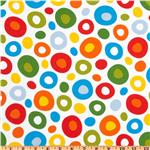 EX-953 Celebrate Seuss! Flannel Circles Bright/White