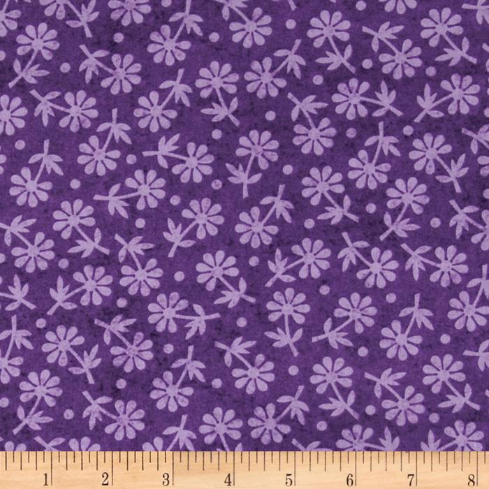 Phoebe Tossed Floral Medium Purple
