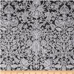 0270209 Lovely Lace Damask Ebony