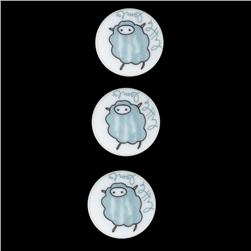 Novelty Button 3/4'' LMH Little Lamb Blue