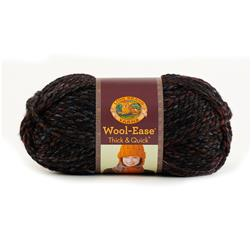 Lion Brand Wool-Ease Think & Quick Yarn Blackstone