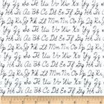 0291908 Back To School Cursive Alphabet White