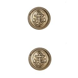 Dill Buttons 7/8'' Polyamid Button Antique Gold