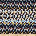 Bloom Stretch Cotton Sateen Watercolor Ikat Yellow/Blue