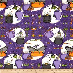 Cats Bats & Vats Large Allover Purple